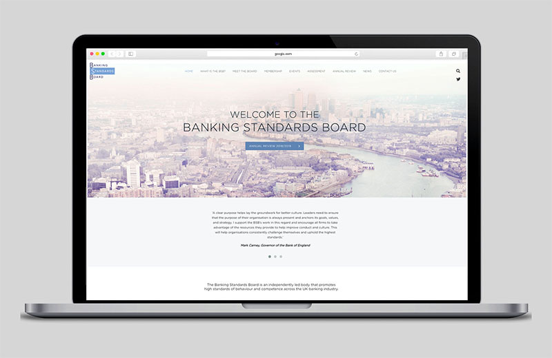 Corporate banking web design