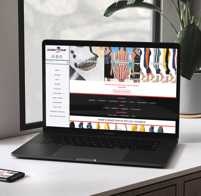 Squeaky Chimp Woo commerce Web Design